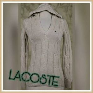 LACOSTE HOODED SWEATER